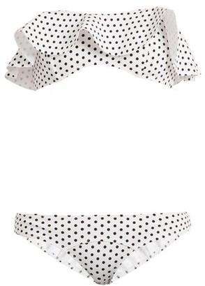 Lisa Marie Fernandez Natalie Polka Dot Print Bonded Bikini - Womens - White