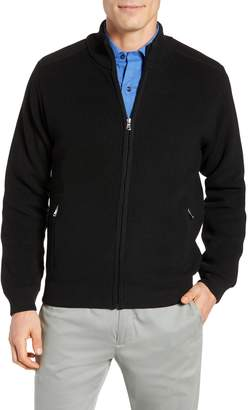 David Donahue Water Resistant Merino Wool Blend Sweater