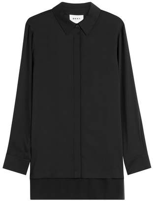 DKNY Asymmetric Silk Blouse