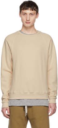 John Elliott Beige Raglan Sweatshirt