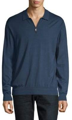 Brioni Half-Zip Wool Sweater