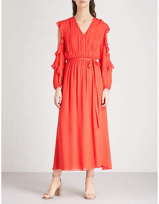 Maje Remy frilled chiffon dress