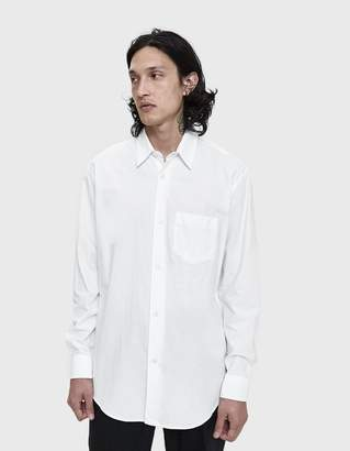 Our Legacy Initial Button Up Shirt in White Bedsheet Cotton