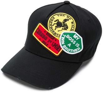 DSQUARED2 logo patchwork cap