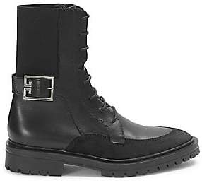 Givenchy Women's Aviator Leather& Suede Ankle Boots