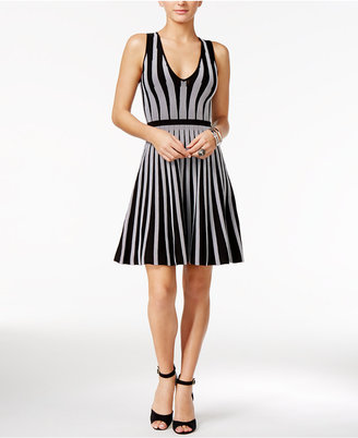 GUESS Mirage Striped Fit & Flare Dress $148 thestylecure.com