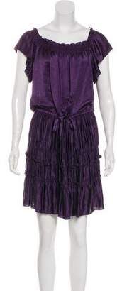 Theory Satin Knee-Length Dress