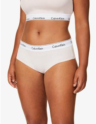 3a69756d41da Calvin Klein Plus Modern Cotton cotton-blend hipster briefs