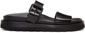 Ann Demeulemeester Black Two-Strap Sandals