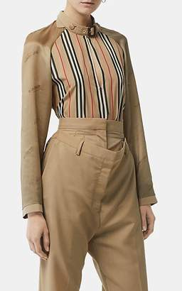 6223b5e4c6820 Burberry Women s Heritage-Striped Cotton Shirt - Beige