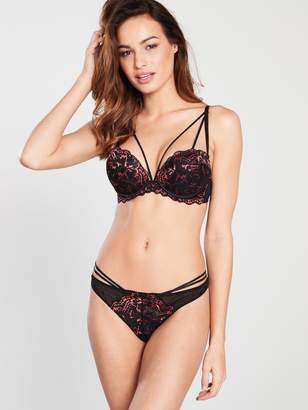 9577015dc89 Ann Summers Tayla Triple Boost Plunge - Red and Black
