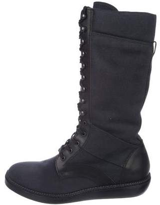 Lanvin Leather-Trimmed Tall Boots w/ Tags