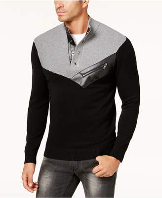 INC International Concepts I.N.C. Men's Mock Neck Sweater, Created for Macy's