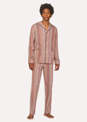 Paul Smith Men's Signature Stripe Cotton Pyjama Set