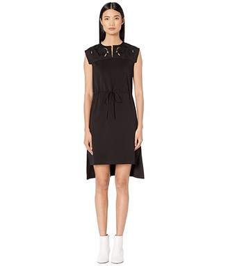 See by Chloe Jersey Applique Drawstring Dress
