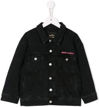 Mini Rodini embroidered denim jacket