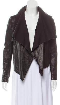 Theory Leather Draped Jacket