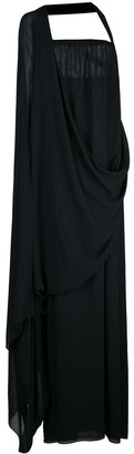 Vera Wang draped one shoulder gown