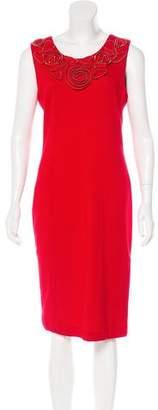 Calvin Klein Floral-Trimmed Midi Dress