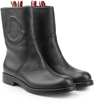 Moncler Valentine Leather Ankle Boots