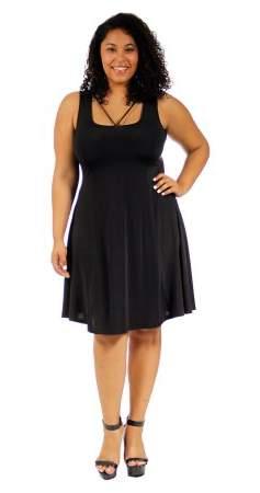 Women's Plus Size Abstract Neckline Sheath Dress