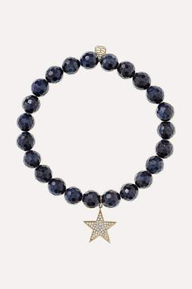 Sydney Evan Star Sapphire, Diamond And 14-karat Gold Bracelet