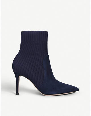 Gianvito Rossi Katie 85 suede sock ankle boots