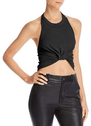 Alexander Wang Twisted Halter Crop Top