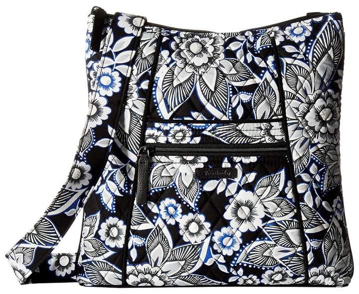 Vera Bradley Hipster Cross Body Handbags - SNOW LOTUS - STYLE