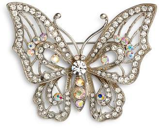 Nina Openwork Pave Butterfly Brooch