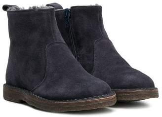 Pépé contrast lining ankle boots
