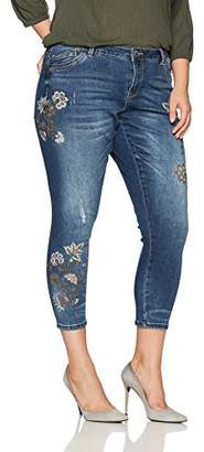 Democracy Women's Plus-Size Seamless Ankle Skimmer with Embroidery