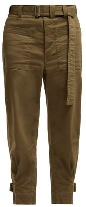 Proenza Schouler Pswl - Utility Cotton Twill Slouchy Trousers - Womens - Khaki