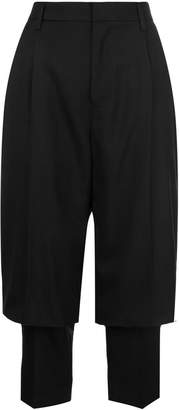 Comme des Garcons layered tailored cropped trousers