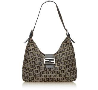 Fendi Vintage Zucchino Canvas Shoulder Bag