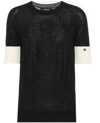 Rochas Wool-blend short-sleeved sweater