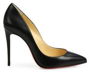 Christian Louboutin Pigalle Follies 100 Leather Point Toe Pumps