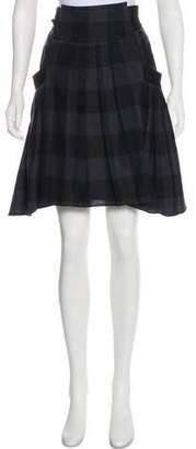Kenzo Plaid Pleated Skirt