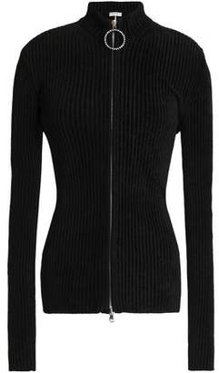 Emilio Pucci Crystal-Trimmed Chenille Ribbed-Knit Top