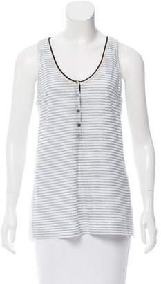 Giada Forte Striped Linen Top w/ Tags
