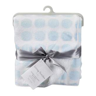 Living Textiles Velboa Mod Dot Blanket – – Plush Blanket Lined With Cozy Fleece, Soft Satin Piping, Unbelievably Warm And Soft, Perfect Baby Shower Gift