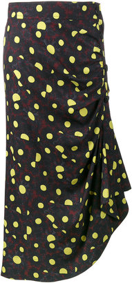 ruched printed skirt