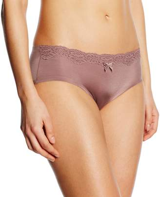 Maidenform Women's Comfort Devotion Embellished Hipster Panty, Spicy Bronze/Cream Soda