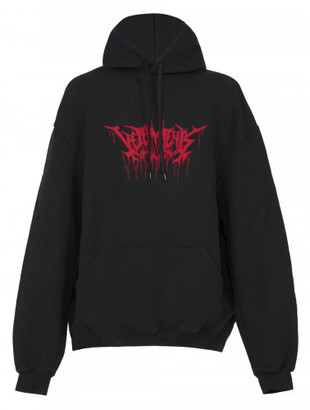Vetements gothic logo print hoodie $1,150 thestylecure.com