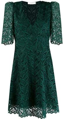 Sandro Paris v-neck lace short dress