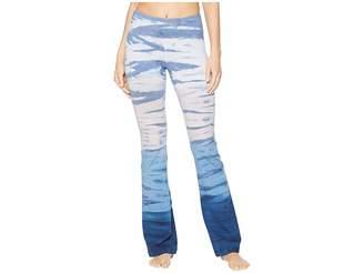 Hard Tail Flat Waist Wide Flare Pants
