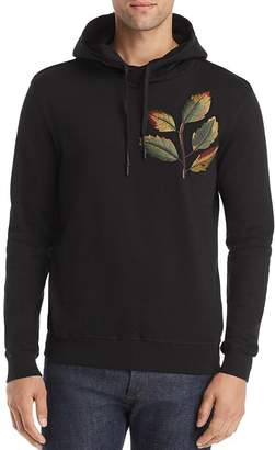 Antony Morato Leaf-Embroidered Hooded Fleece Sweatshirt
