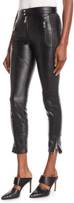 Etoile Isabel Marant Zaperry Cropped Faux-Leather Skinny Trousers