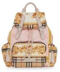Burberry Silk Printed Backpack