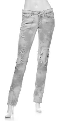 J Brand 912 Zombie Ripped Jeans: Grey